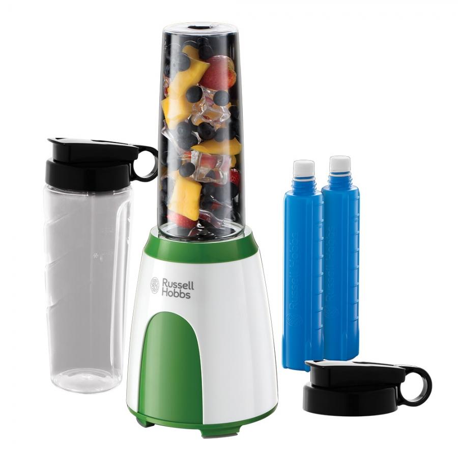 Блендер Explore Mix & Go Cool 25160-56 със семпъл дизайн и в комплект с две бутилки и охлаждащи пакети